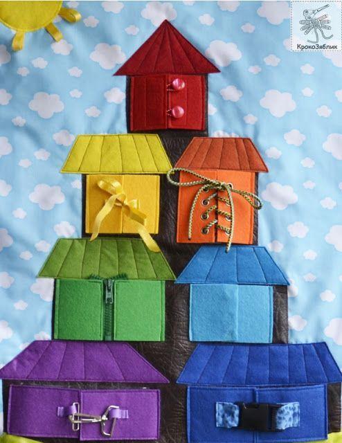 quiet book page... learn colors... КрокоЗяблик: Теремок-2 / Teremok-2