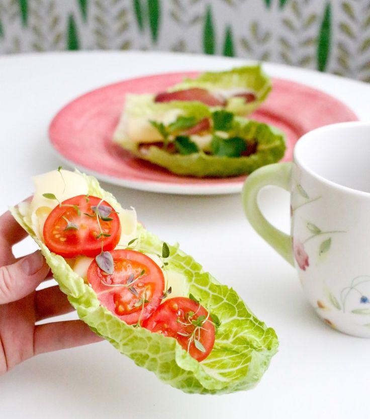 Frukosttips från lesscarbs.se Salladsmackor!