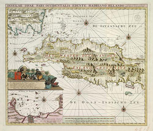 Het Westerdeel van het Eyland Groot Java, 1718 ...