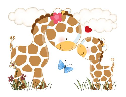 Jungle LOVE Giraffe Wall Art Mural Decal for baby girl boy nursery or kids room decor. This adorable mural is of a loving mother giraffe with her baby in the spring meadow. This unique, one of a kind wall mural is high quality with bright vivid colors. Easy to install #decampstudios