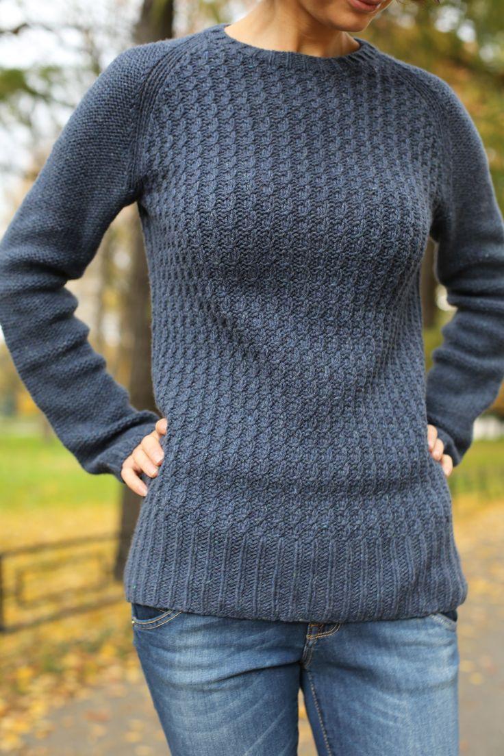 Bedford by Michele Wang, Loro Piana art Cashmere tweed 100% кашемир 100гр - 400м цвет тертый джинс в 2 сложения на 6мм. Общий расход: 375гр