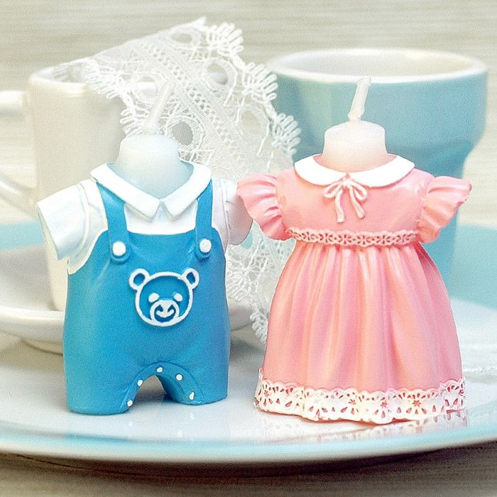 Baby Clothes Shaped Birthday Candle