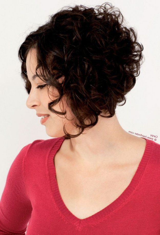 Short Curly Hairstyles Longer In Front Curly Hair Styles Short Curly Hair Hair