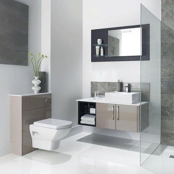 modular bathroom furniture bathrooms. Mereway Adriatic Cappuccino Gloss Combination Bathroom Modular Furniture Bathrooms U