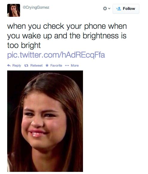 The Selena Gomez crying meme is applicable to everything