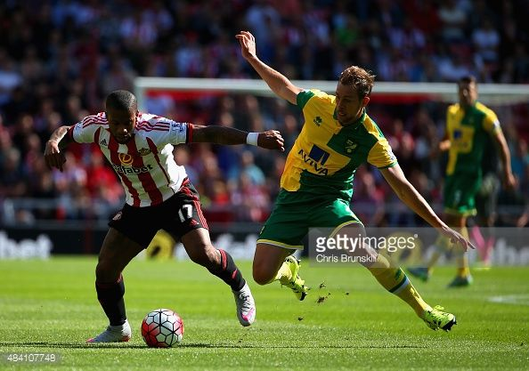 Jeremain Lens of Sunderland and Steven Whittaker of Norwich City... News Photo | Getty Images