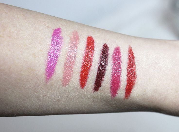 "Swatches of Lumene True Passion Lip Colors by beauty blogger ""Oh so many reasons"". #lipstick #lumene"
