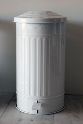 White Kitchen Pedal Bin