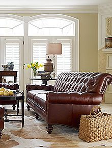 Henredon At Hinson Galleries Inc Leather Sofa Furniture Pinterest And