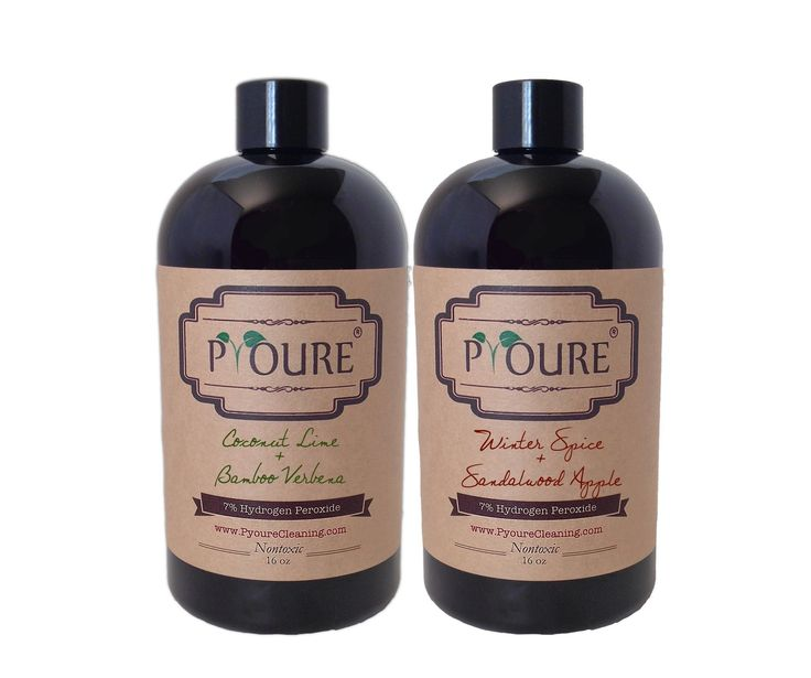 Scent Mixer: 2 Piece 7% Peroxide Cleaner Concentrates (2 x 16 fl oz)  #springcleaning #cleaningtime #nontoxiccleaningproducts #organizing #hydrogenperoxide #aromatherapy #greencleaning #declutter #neatfreak #ilovepyoure Awesome Hydrogen Peroxide Cleaners and More!