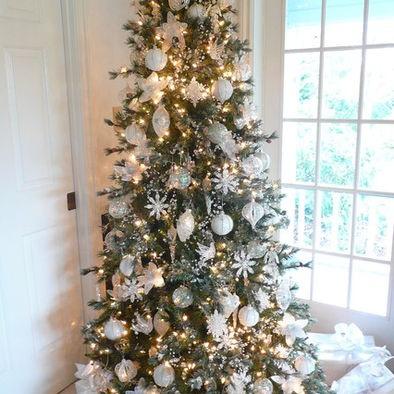 All white christmas tree christmas pinterest for White christmas tree pinterest