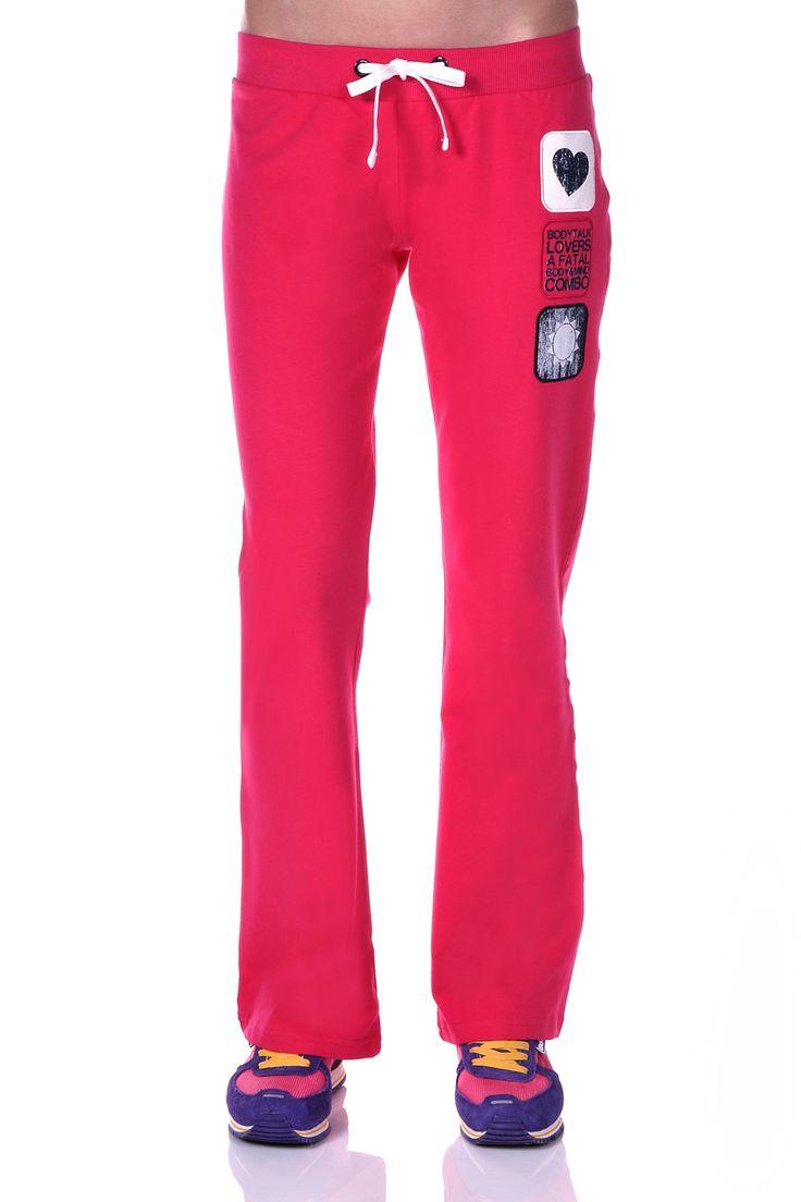 Γυναικείο παντελόνι με κορδόνι στην μέση και ελαστική εφαρμογή. Διαθέτει διακριτικά τυπώματα. Ιδανικό για γυμναστική.