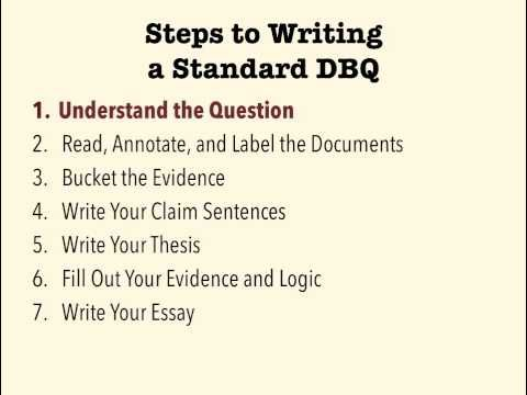 How to Write an AP European History DBQ Document Based Question