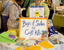 "Caitlin's Smiles: Help children with chronic and life-threatening illnesses with arts and crafts activities in the forms of ""Bags of Smiles"", individual arts and crafts kits, homemade cards and treasure and treat kits."
