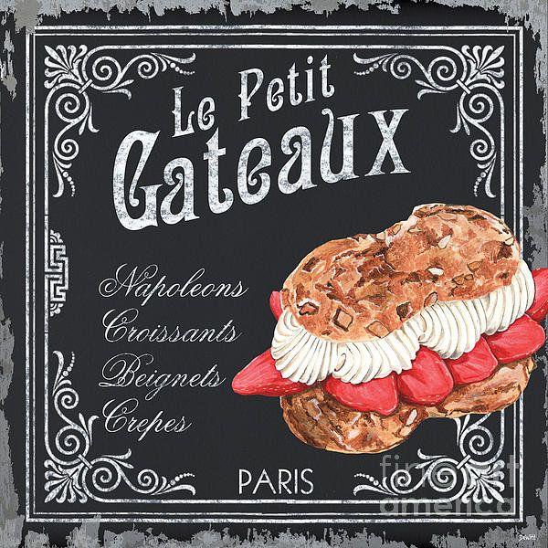 Le Petit Gateaux Print By Debbie Dewitt