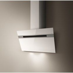 Elica ASCENT60WH Ascent White Angled 60cm Chimney Cooker Hood £450 not sure if rear ducting