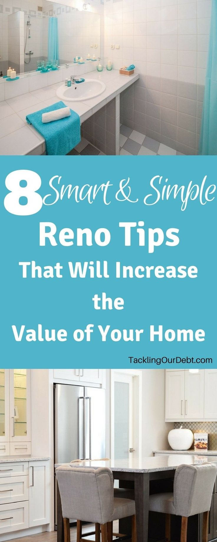 Increase the value of your home: Before you call a Realtor to put your house up for sale, make sure you complete these simple and smart reno tips to dramatically increase the value of your home. Click thru to learn more!