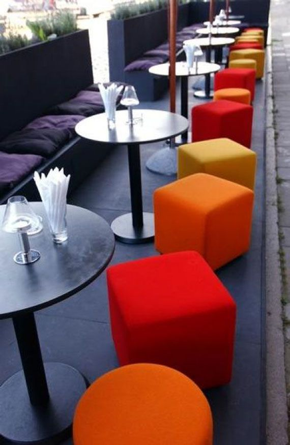 Red  orange and yellow cubes. 103 best Idea images on Pinterest   Restaurant interiors