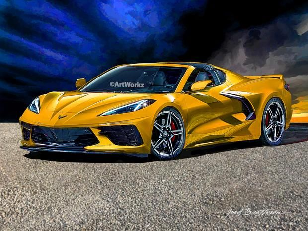 2020 Corvette C8 Stingray Supercar Print Auto Art Sports Car Print Aw116 Super Cars Chevrolet Corvette Stingray Car Art