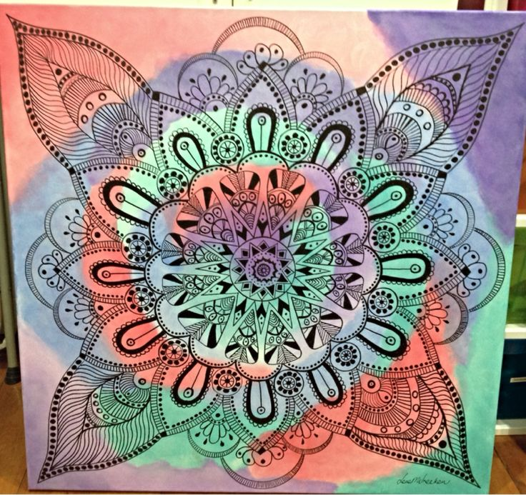 Mandala in acrylic and sharpie