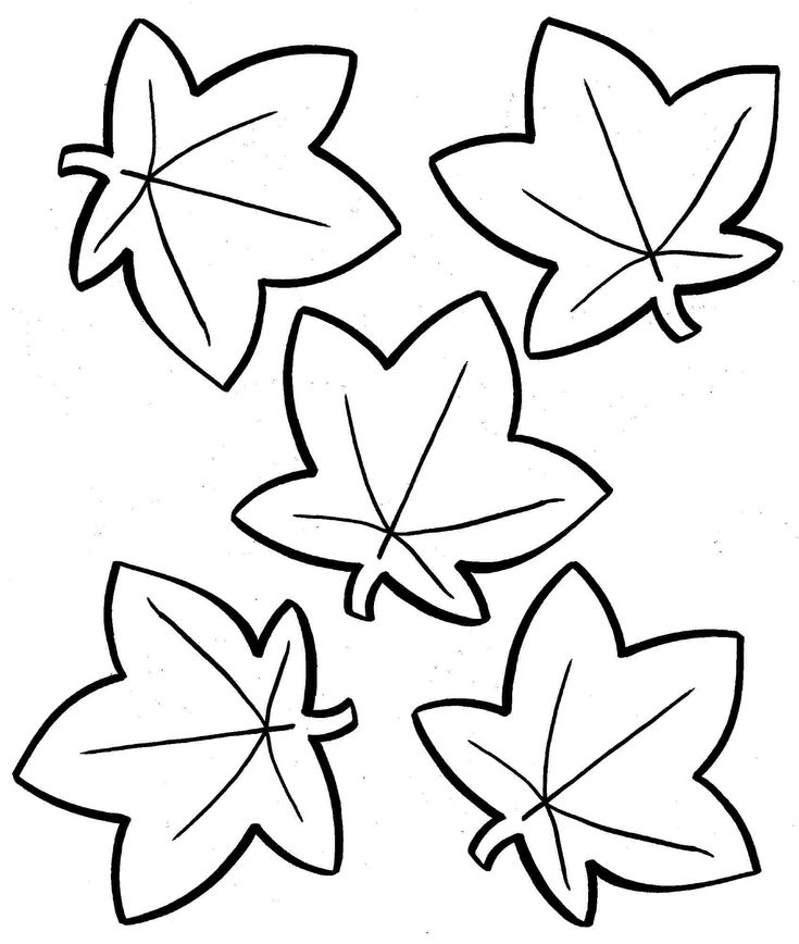 Fall Leaves Coloring Pages Printable Autumn Page Az Krayon