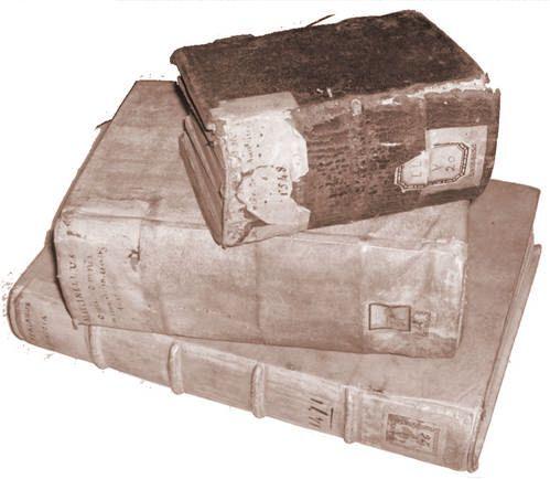 Legature in pergamena e in cuoio - Vellum and leather bindings. © Biblioteca Carrobiolo