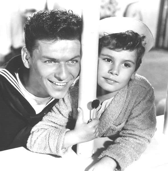 Dean Stockwell and Frank Sinatra