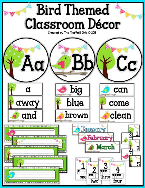 Free Classroom Decoration Templates ~ Images about boho birds on pinterest bird bulletin