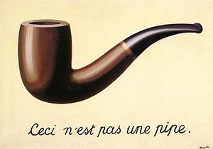 René Magritte considers the role language plays in the perception of reality (video): http://www.sfmoma.org/explore/multimedia/videos/246#ixzz1rEVfG3t1 San Francisco Museum of Modern Art