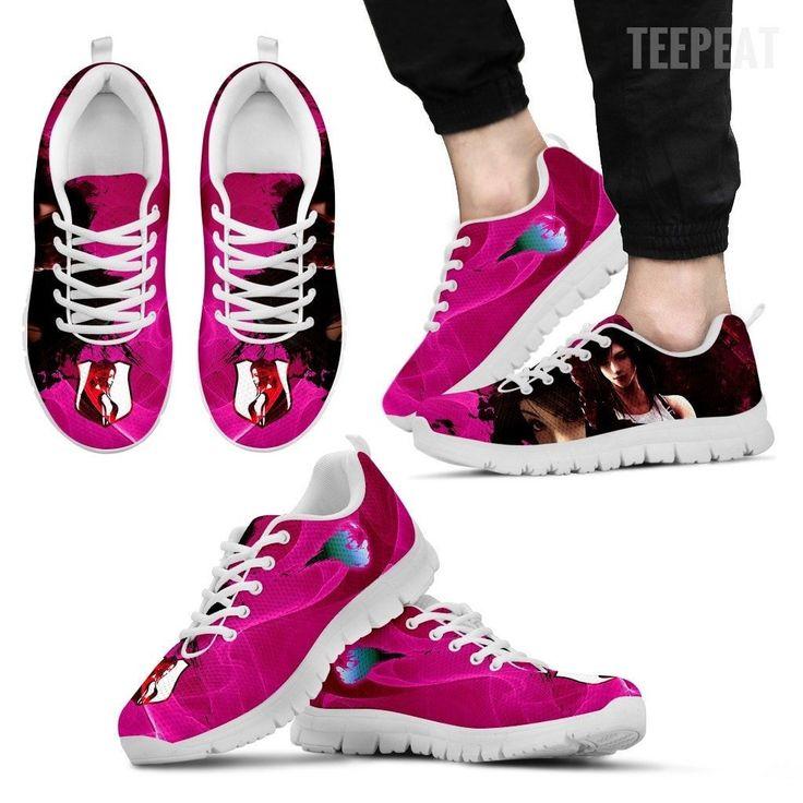 Tifa Lockhart Men's Sneakers #shoes #prints #printable #painting  #empireprints #teepeat