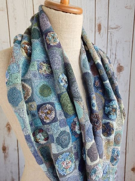 """""""Wooly Generation"""" linen scarf"""