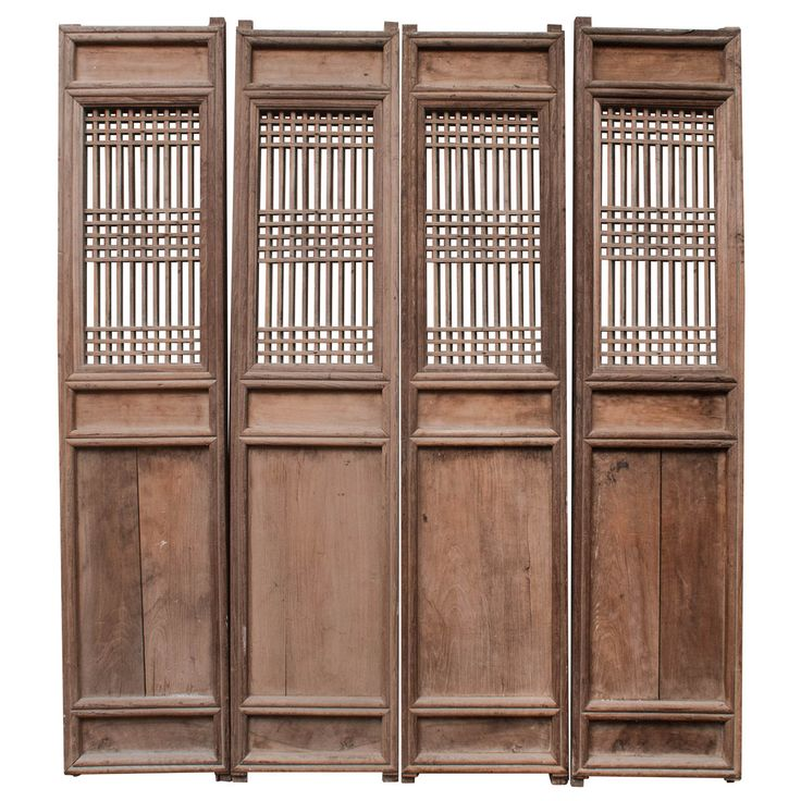 Set of Four Chinese Door Panels   From a unique collection of antique and modern doors and gates at http://www.1stdibs.com/furniture/building-garden/doors-gates/