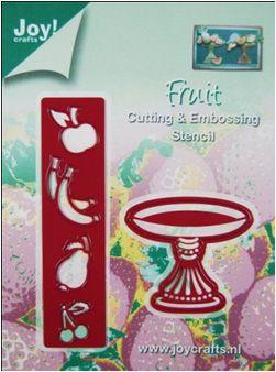 6002/0129 Joy snijmal Embossing fruit 1 - Mallen snij en embossing <200 - Joy Crafts - Hobby-Koopjes.nl