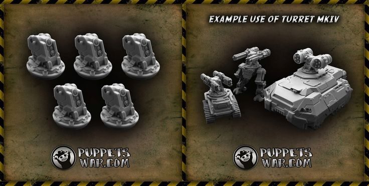 We have a new release today: Turret Mk IV cores: https://puppetswar.eu/product.php?id_product=711