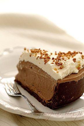 Mrożony sernik z nutellą/ Frozen cheesecake with nutella