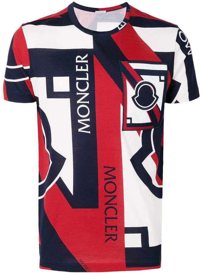 4045dcebd Moncler C x Craig Green tri-colour printed T-shirt | Shop the look ...