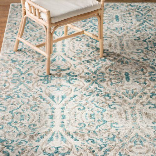 Found it at AllModern - Saleya Turquoise Area Rug