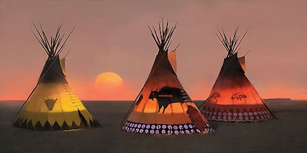 Indian Sunset II - R. Tom Gilleon - World-Wide-Art.com - $625.00