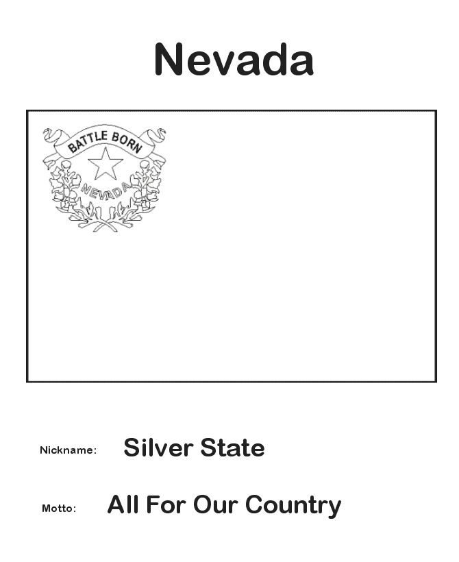 nevada state coloring pages - photo#19