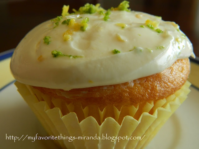 My Favorite Things: Lemon Drop Cupcakes with a Cream Cheese & Lemon Frosting
