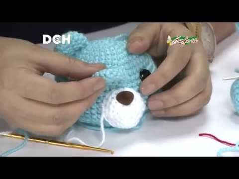 sonajero osito crochet tutorial - YouTube