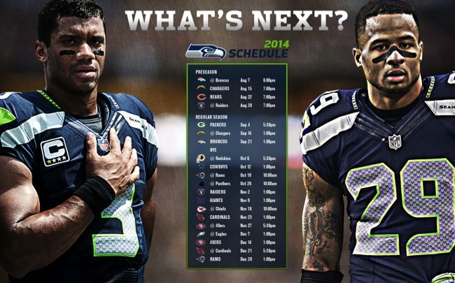 Seahawks 2014 Football Schedule. It's time to connect with Seattle football.