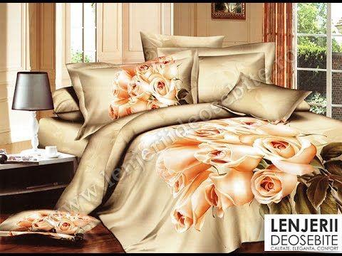 Lenjerie de pat de lux bej A-8176 Cumparati aceasta lenjerie de pat intrand aici http://www.lenjeriidepatdeosebite.ro