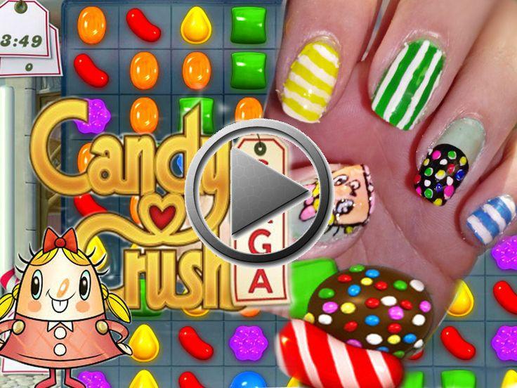 Diseño de uñas Candy crush saga