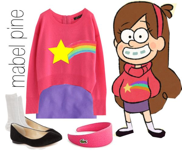 """mabel, gravity falls"" by simmaaay ❤ liked on Polyvore"