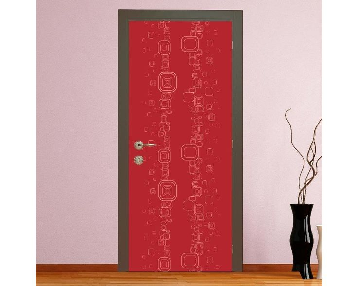 Redish rectangles, αυτοκόλλητο πόρτας , δείτε το!