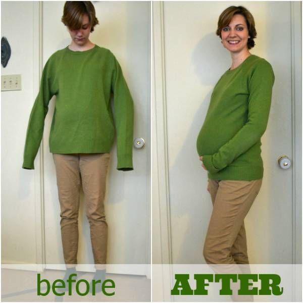 Transformez un pull trop grand en pull de grossesse