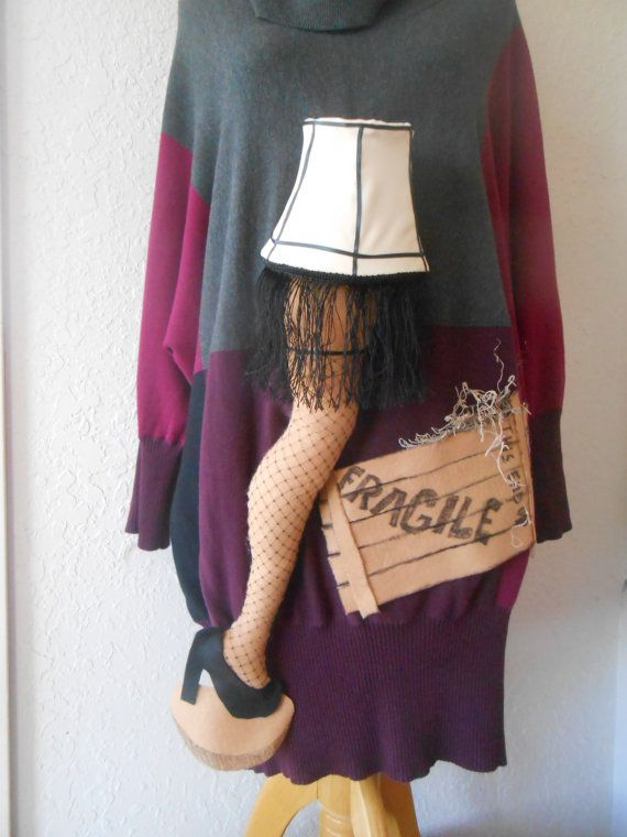 """An """"UGLY"""" Sweater with A Christmas Story's Leg Lamp that really lights up using led lights"""