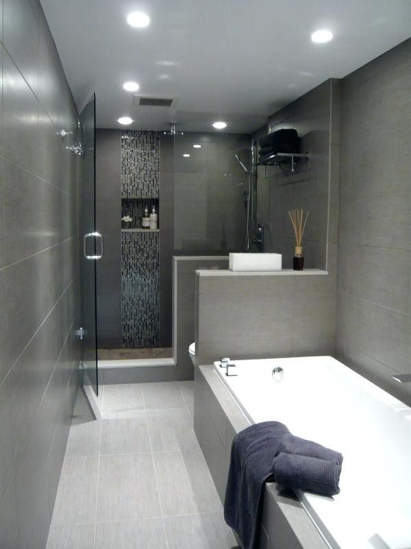 Modern Bathroom Design Grey And White Modern Bathroom Ideas Glamorous Ideas Ff Grey Tile Bathro Idee Salle De Bain Decoration Salle De Bain Salle De Bain Grise