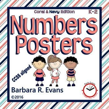 NUMBERS POSTERS includes cardinal & ordinal numbers within 20.  4 visual…